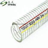 O PVC reforçados o tubo de aço em espiral da mangueira de descarga industrial