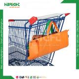 Оптовая торговля супермаркет полиэстер нейлон 4 ПК многоразовые складные Корзина Trolley Bag