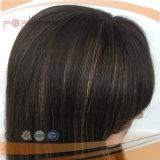 Brasilianische Jungfrau-Haar-Silikon-Perücke für Alopezie (PPG-l-0148)