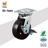 La plaque supérieure de Heavy Duty 8'' roue de fer avec Double roulements à billes