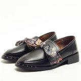 Diseño de nes British Wind pequeña dama zapatos de cuero
