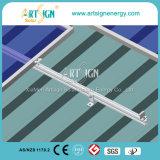 Sistema de montagem no telhado de metal para instalação fotovoltaica