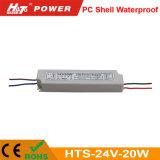 24V 20W PC 쉘 Ce/RoHS를 가진 방수 LED 전력 공급