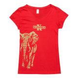 Mesdames fashion Tee-shirt imprimé, transfert à chaud de l'impression Tee Shirt