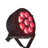 9*12W nuovo LED RGBWA 5 in 1 illuminazione esterna di PARITÀ del LED