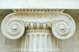 Columna iónica blanca del granito de la columna de la orden de /Doric /Corinthian de la columna de mármol
