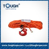 1mの10mm*30mの製造のHandtool UHMWPEロープは袖の鋼鉄管状の指ぬき、リンハイATVのための鼻の端ロックを保護する