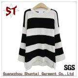 Полосатая High-Quality вязки раунда втулку дамы свитер