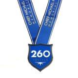 Sport-Metallkundenspezifischer weicher Decklack-breite Farbband-Medaille