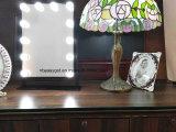 Pantalla táctil grande del espejo del maquillaje con el brillo encendido bulbos grandes Esg10282 de Adjustbale de 12 espejos del LED