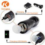 Van Amazonië Heet van de Verkoop Krachtige xml-T6 USB Navulbare LEIDEN van het Aluminium Flitslicht