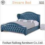 1106 실제적인 가죽 현대 침대