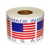 In het groot Zelfklevende Pre Afgedrukte Sticker op een Broodje