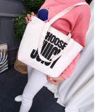 文字の印刷のキャンバスの女性のショルダー・バッグのハンドバッグのトートバック