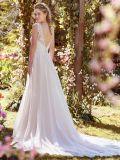 La dentelle en mousseline robe de mariée formelle de mariage robe de mariée Corset sans manches H051