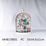 Металлические часы с высоты птичьего полета конструкция отсека в белое покрытие для дома украшения