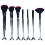 7PCS рыб и задний комплект щеток для макияжа порошок Foundation Eyeshadow губы макияж Набор щеток