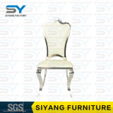 El distribuidor de los muebles del hotel preside la silla de cena de cuero de la boda de la silla