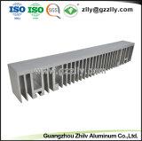 Haute Performance Profil en aluminium anodisé argent pour le dissipateur de chaleur