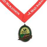 多彩なカスタム赤いリボンの金属のエナメルメダル
