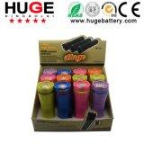 Mini bunte LED-Taschenlampe mit Batterie 3*AAA