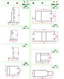 La norme ISO 9001 en aluminium anodisé pour porte de garage de l'obturateur du rouleau de l'ouvreur