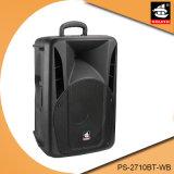 10 Zoll DJ-Batterie-Lautsprecher mit drahtlosem Mikrofon Bluetooth PS-2710bt-Wb
