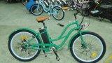 Neues weibliches elektrisches fachkundiges Strand-Kreuzer-Fahrrad