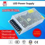 20V 100W 5A Alimentation LED pour l'ingénierie SMPS d'affichage