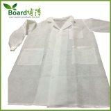 Cappotto non tessuto del laboratorio di SMS, ospite con i polsini lavorati a maglia