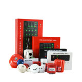 painel de controle convencional do alarme de incêndio de 4zone Asenware para o uso do edifício
