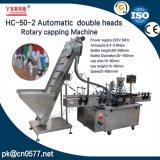 Het automatische Dubbele Plastiek van Hoofden dekt Roterende het Afdekken Machine (hc-50-2) af