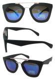 O OEM vende por atacado óculos de sol plásticos da forma do metal & do plástico