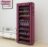 Schuh-Schrank bereift einfache bewegliche Schuh-Zahnstange der Zahnstangen-Speicher-große Kapazitäts-Ausgangsmöbel-DIY (FS-03P)