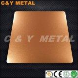 Strato decorativo dell'acciaio inossidabile con il Sand-Blast e l'Rosa-Oro dello specchio