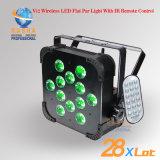 LEIDENE van de Fabriek van Rasha kan het Lichte 12*15W 5in1 Rgbaw UV Draadloze IRL Verre LEIDENE van PAR64 PARI de Slanke Projector van het PARI voor de Gebeurtenis van de Partij