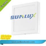 Lámpara del panel cuadrada montada superficie de aluminio de la buena calidad 3W 6W 9W 85V-265V LED