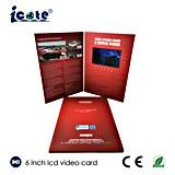 Neuester 6 Zoll-Bildschirm LCD-videobroschüre für das Bekanntmachen