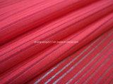Panno di lavoro a maglia di trama della banda orizzontale del tessuto del filato di poliestere