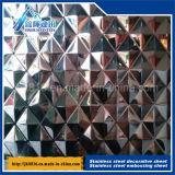 grand dos décoratif titanique de diamant de taille de feuille de l'acier inoxydable 201 304