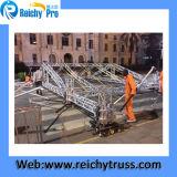 ベストセラーのアルミニウム折るトラス、携帯用トラス(RY) (RY-047)栓またはボルトトラス、屋外のイベントのための義務のトラス屋根。 TUVのマークとの展示会
