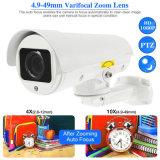 Novo Design Exterior CCTV 1080P à prova de bala Zoom 4X Câmara IP PTZ