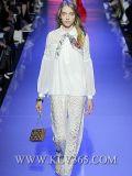 Europäische Entwerfer-Frauen, die Form-Spitze-Klage kleiden