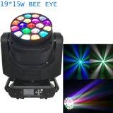 19X15watts grosses B bewegliches Hauptstadiums-Licht des Augen-LED