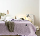 Edredón acolchado púrpura 100% del algodón del estilo americano para los lechos