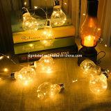 La lampadina della stringa del LED A60, E27 scalda l'uso dell'interno [equivalente alla lampada alogena 20W] della decorazione bianca 2W