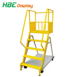 Kar van de Ladder van de Stap van het Metaal van de supermarkt de Vouwbare en Regelbare