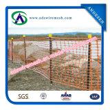 Rete fissa di plastica e barriera di sicurezza per avvertimento