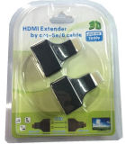 Repetidor HDMI Extender por Cat-5e/6 até 30m Full HD 3D 1080P Auto interruptor do conversor HDMI