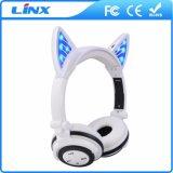 Écouteur sans fil mignon d'oreille de chat de Bluetooth du nouveau produit 2017
